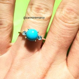 Sleeping beauty Turquoise ring // OBO